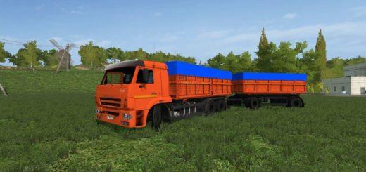 Мод грузовик КАМАЗ-45144 И ПРИЦЕП V2.0.0.0 Фарминг Симулятор 2017