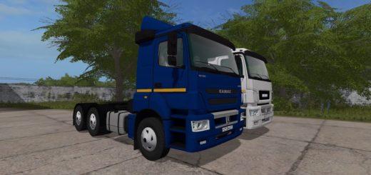 Мод грузовик КАМАЗ-65806-002-68 V2.2 Фарминг Симулятор 2017