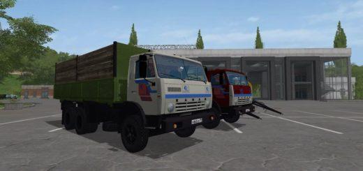 Мод грузовик КАМАЗ-55102 V1.2 Фермер Симулятор 2017