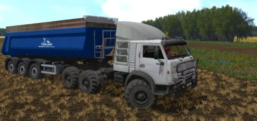Мод грузовик MR KAMAZ 4310 TURBO Фарминг Симулятор 2017