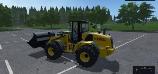 Мод погрузчик NEW HOLLAND RADLADER BY ALEX BLUE V1.4.0.4 FS17