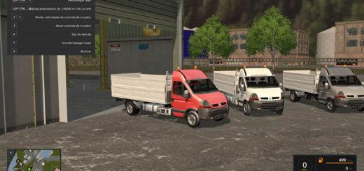 Мод грузовик RENAULT MASTER 2015 V1.0 Farming Simulator 2017