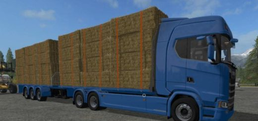 Мод грузовик SCANIA S FLATBED AND MATCHING TRAILER V1 FS17