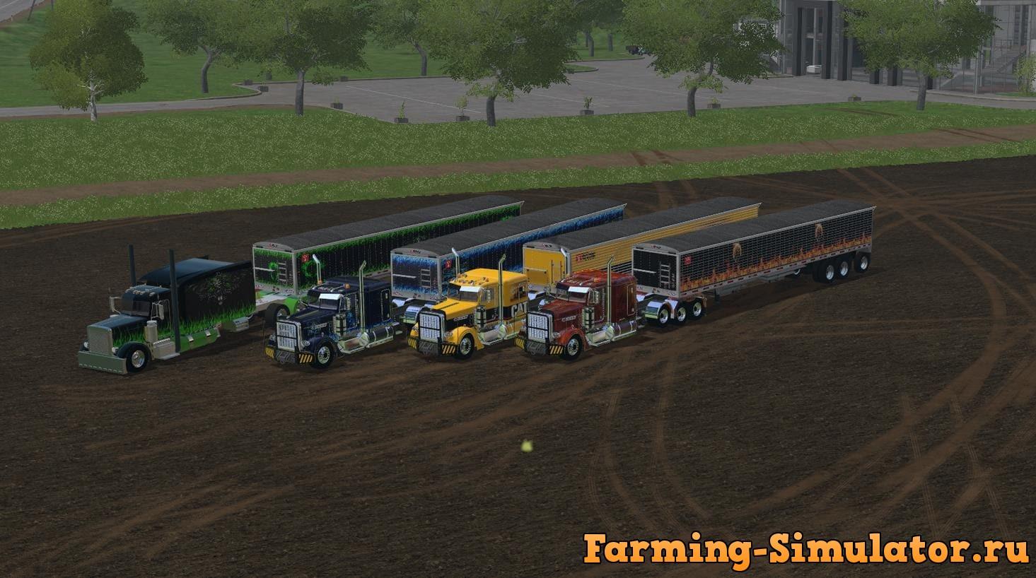 Мод ПАК TRUCKS & TIPPERS V 1.0 Farming Simulator 2017