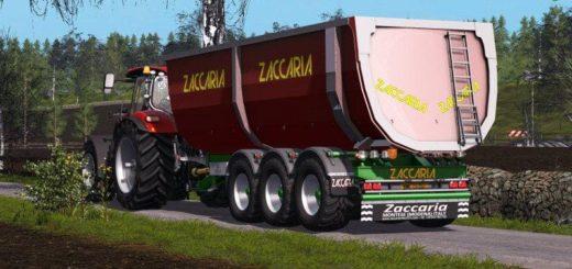 Мод прицеп ZACCARIA ZAM200 DP8SP V1.3.0.0 Farming Simulator 17
