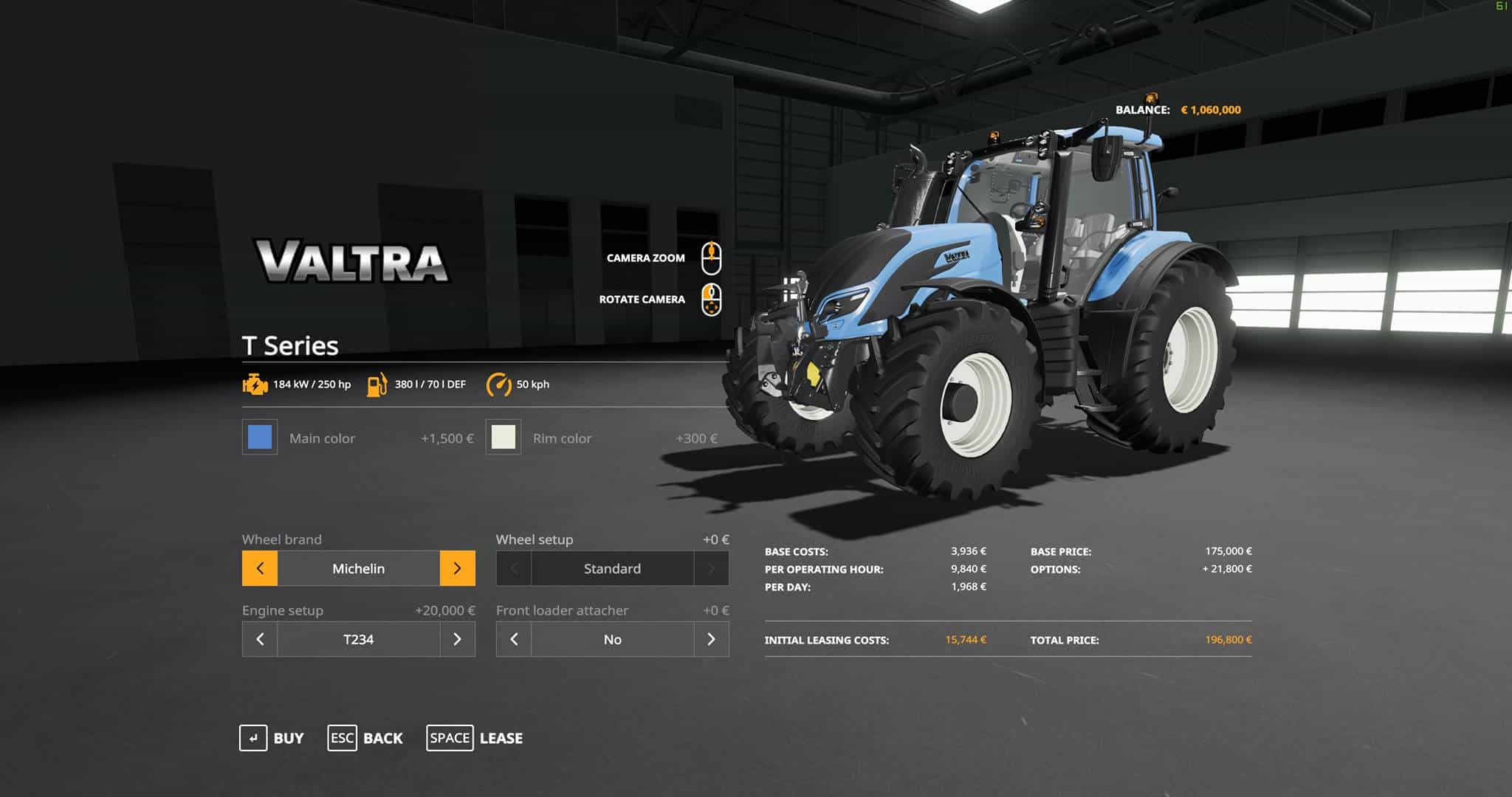 Мод трактор Valtra T Series Tractor – Tires V1.0 Tractor FS19