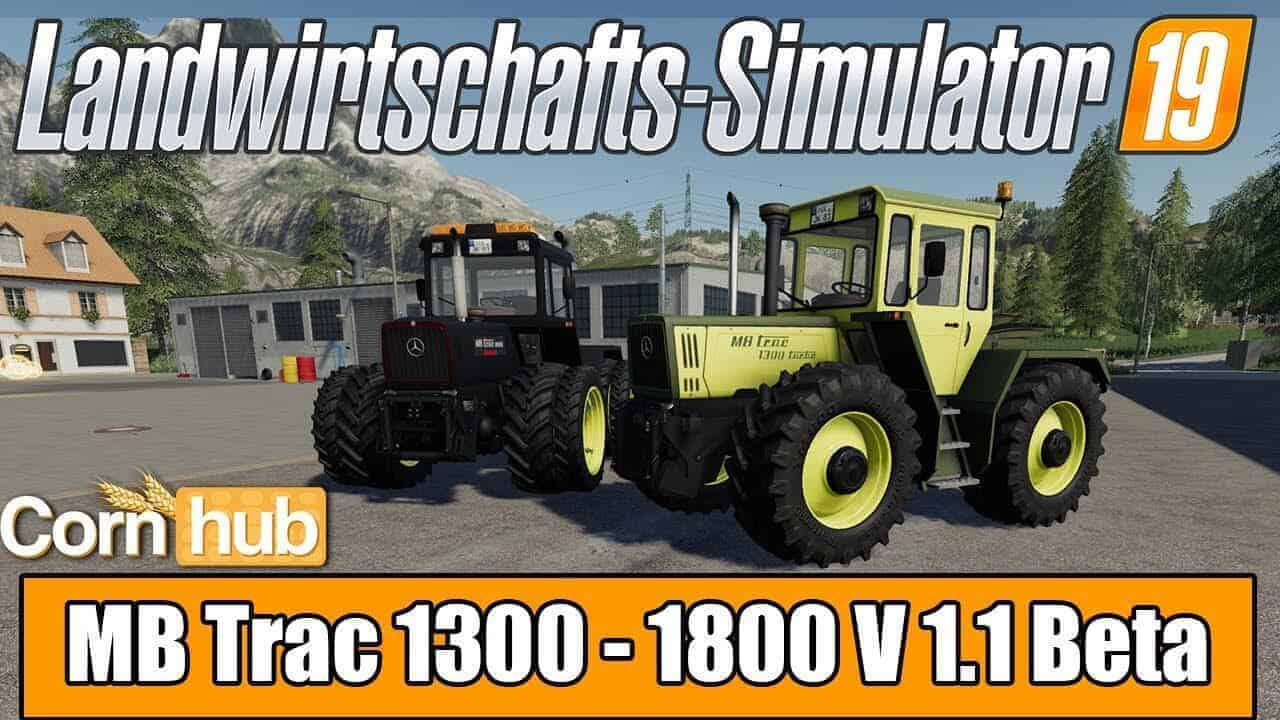 Мод трактор MB Trac 1300 – 1800 v1.1 Beta Farming Simulator 19
