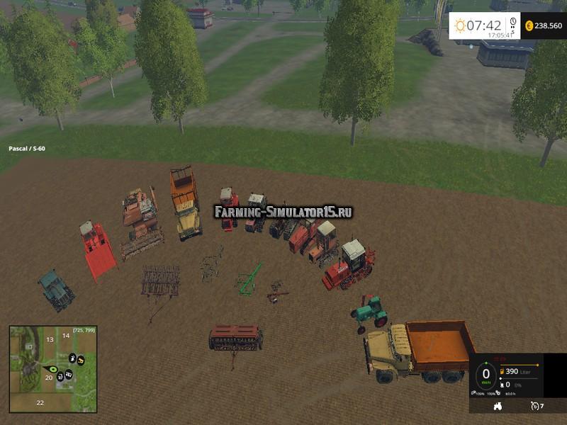 Мод пак русской техники для игры фермер симулятор 2015   mods-fs. Net.