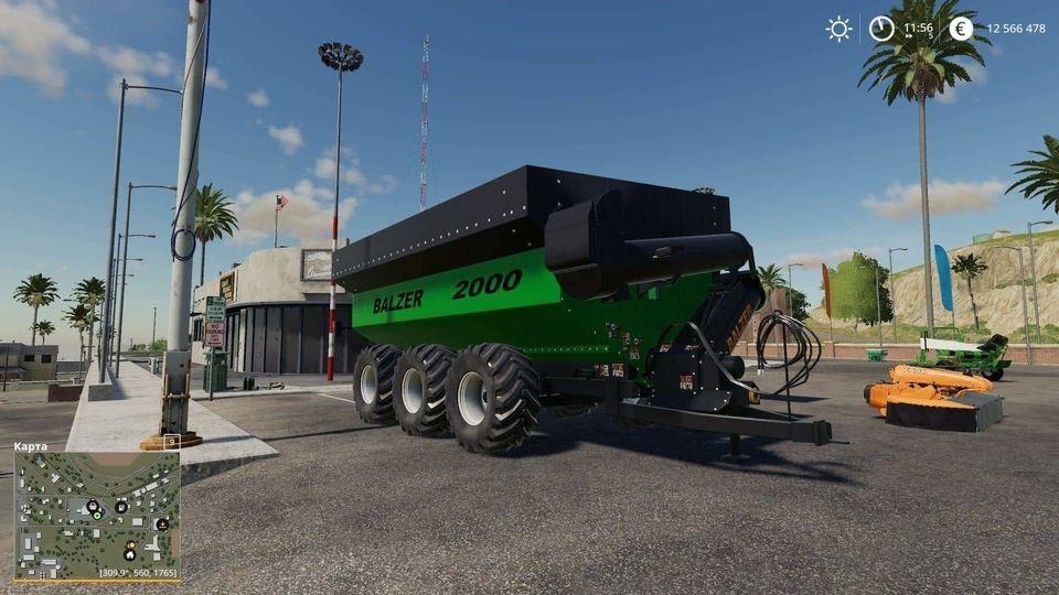 farming simulator 19 прицеп с винтовым конвейером